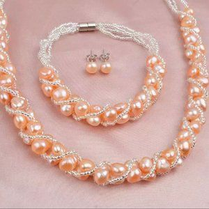 Natural Baroque Pearl Jewelry Set